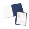 "Coated Paper Report Cover, Tang Clip, Letter, 1/2"" Capacity, Clear/Blue, 25/Box"