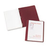"Coated Paper Report Cover, Tang Clip, Letter, 1/2"" Capacity, Clear/Red, 25/Box"