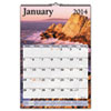 Recycled Scenic Monthly Wall Calendar, 15 1/2&quot; x 22 3/4&quot;, 2013