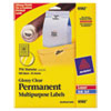 "Permanent Clear Round ID Labels for Laser/Inkjet Printers, 1-2/3"" dia., 500/Pack"