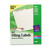 Self-Adhesive Laser/Inkjet File Folder Labels, White, Red Border, 1500/Box