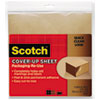 Scotch Cover-Up Sheet, 12 x 12, Brown, 6/Pk