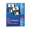 Avery Laser/Inkjet 3.5in Diskette Labels, White, 630/Box