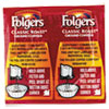 Folgers Coffee, Classic Roast Regular, .9 oz. Pack, 42/Carton
