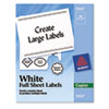 Self-Adhesive Full-Sheet Shipping Labels for Copiers, 8-1/2 x 11, White, 100/Box