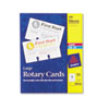Avery Rotary Cards, Laser/Inkjet, 3 x 5, 3 Cards/Sheet, 150 Cards/Box