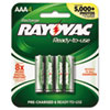 Recharge Plus NiMH Batteries, AAA, 4 per Pack