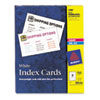 Unruled Index Cards for Laser and Inkjet Printers, 3 x 5, White, 150/Box