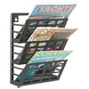 Grid Magazine Rack, 3 Compartments, 9-1/2w x 5-1/2d x 13-1/2h, Black