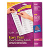 Avery Easy Peel Laser Mailing Labels, 1 x 2-5/8, Clear, 750/Box