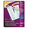 Easy Peel Laser Mailing Labels, 2 x 4, Clear, 500/Box
