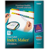 Index Maker Dividers, Multicolor 12-Tab, Letter, 5 Sets/Pack