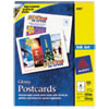 Avery Inkjet Glossy Photo-Quality Postcards, 4-1/4 x 5-1/2, Four per Sheet, 100/Pack
