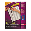 Easy Peel Laser Mailing Labels, 1/2 x 1-3/4, Clear, 2000/Box