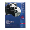 Avery Laser CD/DVD Labels, Matte White, 40/Pack