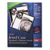 Avery Laser CD/DVD Jewel Case Inserts, Matte White, 20/Pack