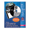 CD/DVD Design Kit, Matte White, 40 Laser Labels and 10 Inserts
