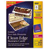 Avery Clean Edge Laser Business Cards, 2 x 3 1/2, White, 120/Box