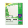 Avery Self-Adhesive Laser/Inkjet File Folder Labels, Green Border, 1500/Box