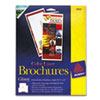 Brochure Paper, Glossy, 8-1/2 x 11, White, 50 Sheets/Pack