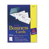 Avery Two-Side Printable Business Cards, Laser, 2 x 3-1/2, White, Uncoated, 2500/Box