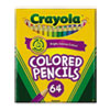 Crayola Colored Woodcase Pencil, HB, 3.3 mm, Assorted, 64/Pack