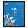 DAX Black Plastic Poster Frame w/Plastic Window, Wide Profile, 16 x 20