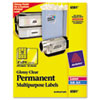 Permanent I.D. Labels, 2 x 2 5/8, Clear, 300/Pack