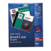 Avery Laser CD/DVD Jewel Case Inserts, Matte White, 15/Pack