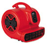 Commercial Three-Speed Air Mover, 1/2 hp Motor, 20 Ibs, Red/Black