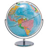 Advantus Physical and Political 12-Inch Globe, Gold Metal Desktop Base