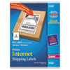 Avery Shipping Labels with TrueBlock Technology, 5-1/2 x 8-1/2, White, 200/Box