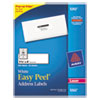 Avery Easy Peel Laser Address Labels, 1-1/3 x 4, White, 350/Pack