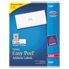 Avery Easy Peel Laser Address Labels, 1 x 2-5/8, White, 750/Pack