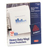Avery Top-Load Vinyl Sheet Protectors, Heavy Gauge, Letter, Clear, 50/Box