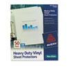 Avery Top-Load Vinyl Sheet Protectors, Heavy Gauge, Letter, Non-Glare, 50/Box