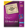 Avery Easy Peel Mailing Labels For Inkjet Printers, 8-1/2 x 11, Clear, 10/Pack