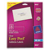 Avery Easy Peel Inkjet Mailing Labels, 1-1/3 x 4, Clear, 350/Pack