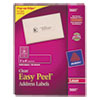 Avery Easy Peel Laser Mailing Labels, 1 x 4, Clear, 1000/Box
