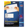 Avery Repositionable Address Labels, Inkjet/Laser, 2 x 4, White, 250/Box