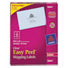 Avery Easy Peel Laser Mailing Labels, 3-1/3 x 4, Clear, 300/Box