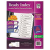 Avery Ready Index Classic Tab Titles, 10-Tab, 1-10, Letter, Black/White, 10/Set