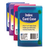 C-Line 58046 Index Card Case, Holds 200 4 x 6 Cards, Polypropylene, Assorted CLI58046 CLI 58046