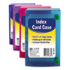 C-Line 58335 Index Card Case, Holds 100 3 x 5 Cards, Polypropylene, Assorted CLI58335 CLI 58335