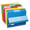Pendaflex Interior File Folders, 1/3 Cut Top Tab, Letter, Bright Assortment, 100/Box