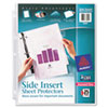 Secure Side-Load Sheet Protectors, Heavy Gauge, Ltr, Diamond Clear, 25/Pack