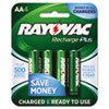 Recharge Plus NiMH Batteries, AA, 4 per Pack