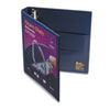"Heavy Duty Nonstick View Binder w/Locking 1 Touch EZD Rings, 1"" Cap., Navy Blue"