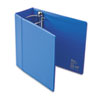 "Vinyl EZD Reference Binder, Label Holder, Finger Hole, 5"" Capacity, Blue"