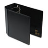 Heavy-Duty Vinyl EZD Reference Binder With Finger Hole, 5&quot; Capacity, Black